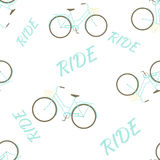 Modèle sans couture avec le vélo illustration libre de droits