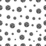 Modèle sans couture avec le volleyball Photos libres de droits