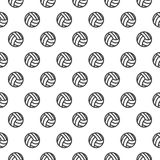 Modèle sans couture avec le volleyball Images libres de droits
