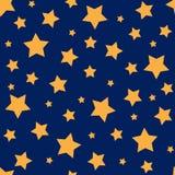 Modèle sans couture avec les étoiles jaunes Images libres de droits