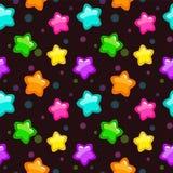 Modèle sans couture avec les étoiles lumineuses colorées Images stock