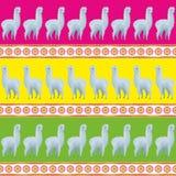 Modèle sans couture avec les alpaga mignons Illustration Libre de Droits