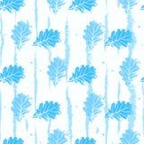 Modèle sans couture avec les arbres bleu-clair de dentelle de feuilles de découpe sur un fond blanc illustration de vecteur