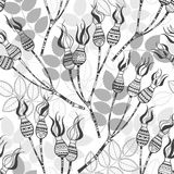 Modèle sans couture avec les baies roses de chien Illustrat élégant Photo libre de droits