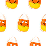 Modèle sans couture avec les biscuits gais illustration stock