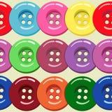 Modèle sans couture avec les boutons colorés de vêtements Illustration de vecteur Image stock