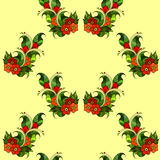 Modèle sans couture avec les branches abstraites avec des fleurs Vecteur Photographie stock