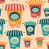 Modèle sans couture avec les cafés colorés Image libre de droits