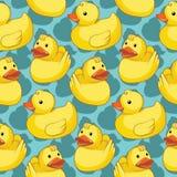 Modèle sans couture avec les canards jaunes Image stock