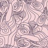 Modèle sans couture avec les cercles déformés Fond abstrait tiré par la main illustration de vecteur