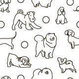 Modèle sans couture avec les chiens mignons illustration stock