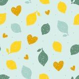 Modèle sans couture avec les citrons tirés par la main de griffonnage Illustration de vecteur Image libre de droits