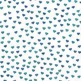 Modèle sans couture avec les coeurs bleus et verts minuscules Photos stock