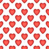 Modèle sans couture avec les coeurs gentils Fond de jour de valentines illustration libre de droits