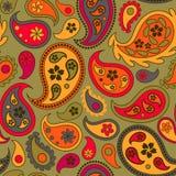 Modèle sans couture avec les concombres turcs colorés sur le fond vert illustration libre de droits
