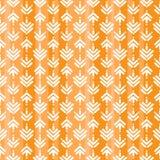 Modèle sans couture avec les courses et les points blancs sur le fond d'orang-outan Fond symétrique indien ethnique illustration libre de droits