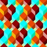 Modèle sans couture avec les cubes plats Fond abstrait dans des couleurs lumineuses illustration libre de droits
