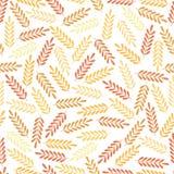 Modèle sans couture avec les feuilles colorées Copie colorée de textile Image libre de droits
