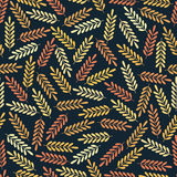 Modèle sans couture avec les feuilles colorées Copie colorée de textile Photos libres de droits