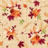 Modèle sans couture avec les feuilles d'automne colorées sur un fond renvoyant Vecteur EPS-10 Image libre de droits