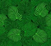 Modèle sans couture avec les feuilles exotiques Images stock