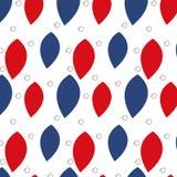 Modèle sans couture avec les feuilles rouges et de bleu Photographie stock libre de droits