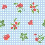 Modèle sans couture avec les fleurs brodées par vintage illustration libre de droits