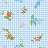 Modèle sans couture avec les fleurs brodées par vintage illustration stock