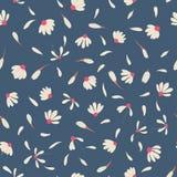 Modèle sans couture avec les fleurs mignonnes de camomille Photo libre de droits