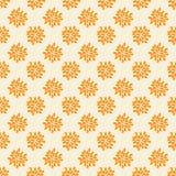 Modèle sans couture avec les fleurs oranges abstraites Image stock