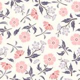 Modèle sans couture avec les fleurs roses et pourpres Illustration de vecteur Images stock