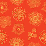 Modèle sans couture avec les fleurs tropicales illustration stock