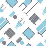 Modèle sans couture avec les icônes plates de meubles Photo libre de droits