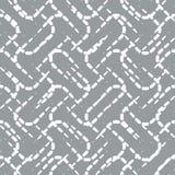 Modèle sans couture avec les lignes pointillées de blanc sur Gray Background Images stock