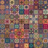 Modèle sans couture avec les mandalas décoratifs Éléments de mandala de vintage Photo libre de droits