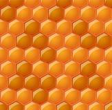 Modèle sans couture avec les nids d'abeilles brillants Image libre de droits
