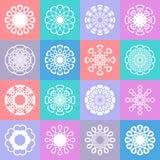 Modèle sans couture avec les ornements géométriques Photographie stock libre de droits