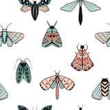 Modèle sans couture avec les papillons décoratifs illustration stock