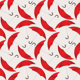 Modèle sans couture avec les parapluies rouges Photo libre de droits