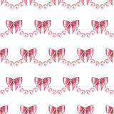 Modèle sans couture avec les perles 5 Photos stock