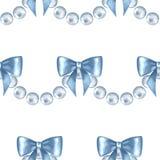Modèle sans couture avec les perles 1 Illustration Stock