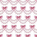 Modèle sans couture avec les perles et les arcs 3 Illustration Stock