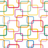 Modèle sans couture avec les places colorées Photo libre de droits