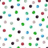 Modèle sans couture avec les points de polka colorés illustration stock