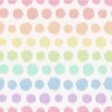 Modèle sans couture avec les points de polka tricotés Images libres de droits