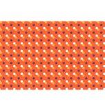 Modèle sans couture avec les points multicolores d'isolement sur l'orange Photo libre de droits