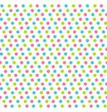 Modèle sans couture avec les points multicolores d'isolement sur le blanc Photographie stock