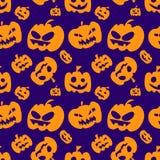 Modèle sans couture avec les potirons oranges de Halloween Images libres de droits