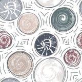 Modèle sans couture avec les taches texturisées rondes Photo libre de droits