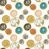 Modèle sans couture avec les taches texturisées rondes Image stock